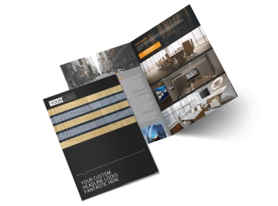 Elite Commercial Real Estate Bi-Fold Brochure Template 2