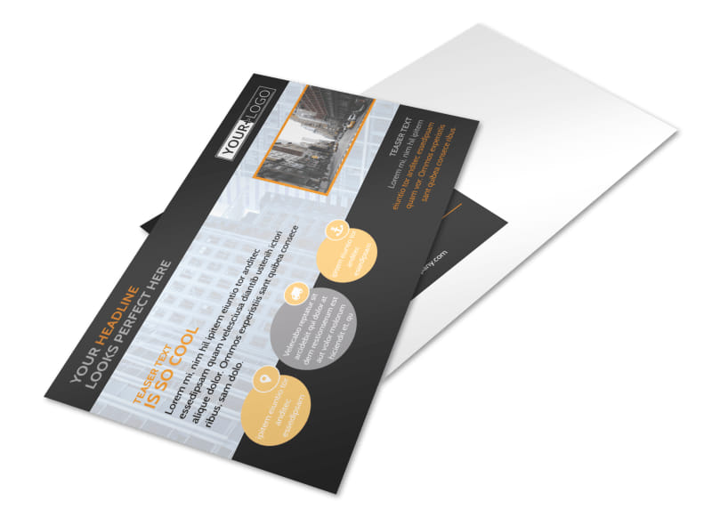 Elite Commercial Real Estate Postcard Template 2