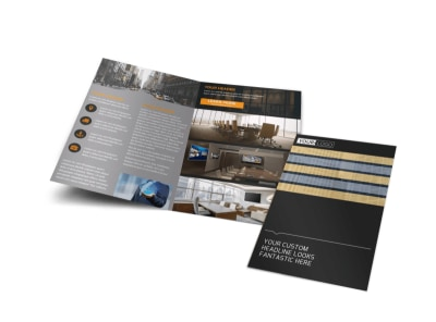 Elite Commercial Real Estate Bi-Fold Brochure Template