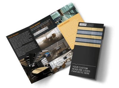 Elite Commercial Real Estate Tri-Fold Brochure Template