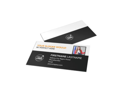 Elite Commercial Real Estate Business Card Template preview