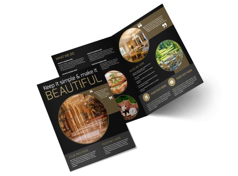Five Star Luxury Hotels Bi-Fold Brochure Template 2