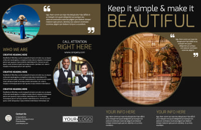 Five Star Luxury Hotels Brochure Template Preview 1