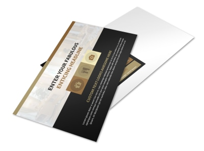 Five Star Luxury Hotels Postcard Template 2 preview