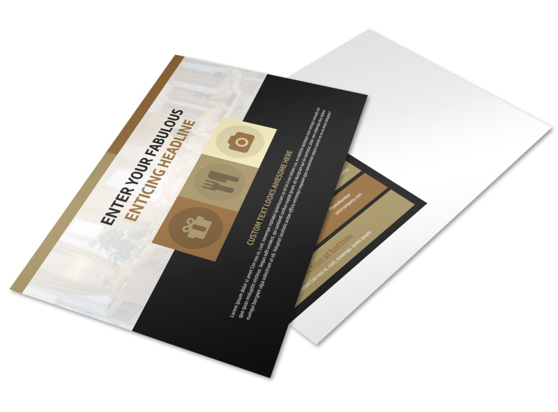 Five Star Luxury Hotels Postcard Template Preview 4