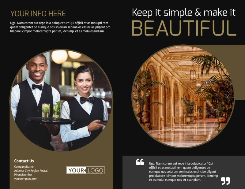 Five Star Luxury Hotels Brochure Template Preview 2