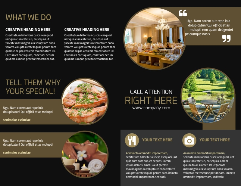 Five Star Luxury Hotels Brochure Template Preview 3