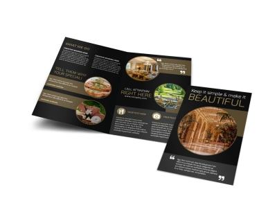 five star luxury hotels bi fold brochure template