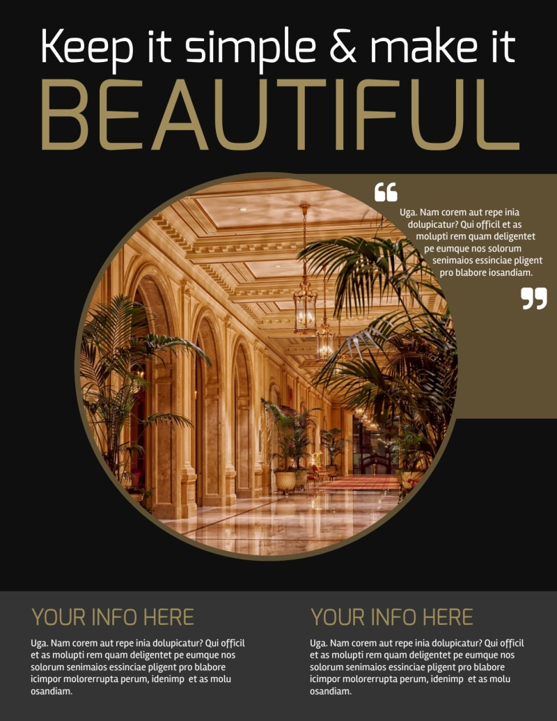 Five Star Luxury Hotels Flyer Template Preview 2