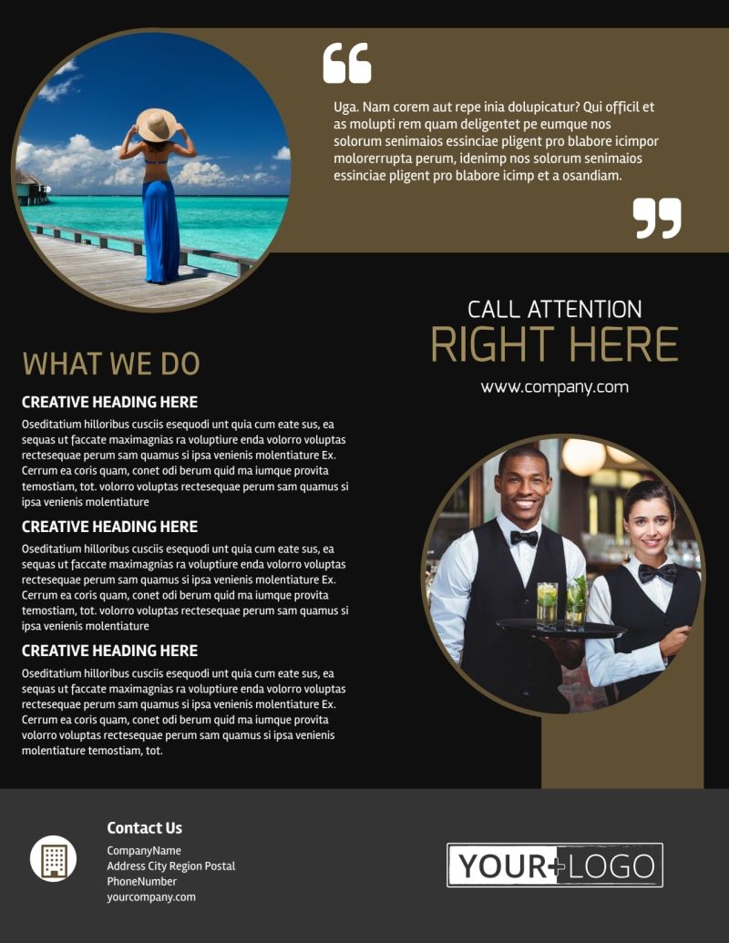 Five Star Luxury Hotels Flyer Template Preview 3