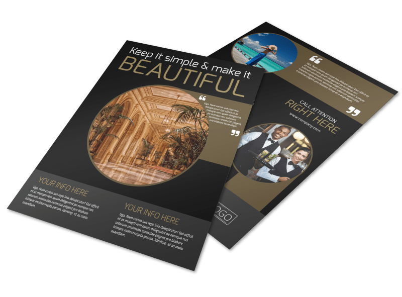 Five Star Luxury Hotels Flyer Template Preview 1