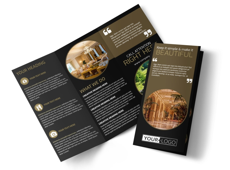 Five Star Luxury Hotels Brochure Template MyCreativeShop - Fancy brochure templates