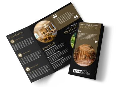 Five Star Luxury Hotels Tri-Fold Brochure Template preview