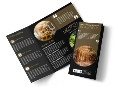 Five Star Luxury Hotels Tri-Fold Brochure Template