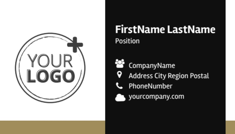 Five Star Luxury Hotels Business Card Template Preview 2
