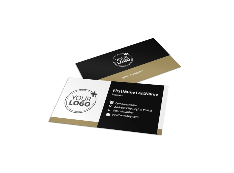 Five Star Luxury Hotels Business Card Template Preview 1