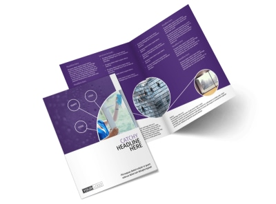 Window Cleaning Service Bi-Fold Brochure Template 2