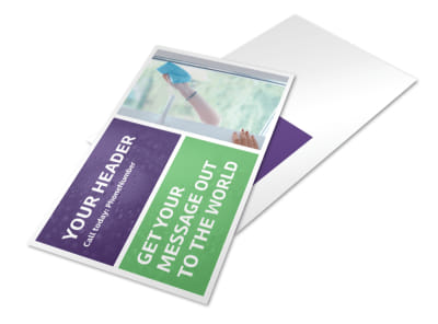 Window Cleaning Service Postcard Template 2 preview