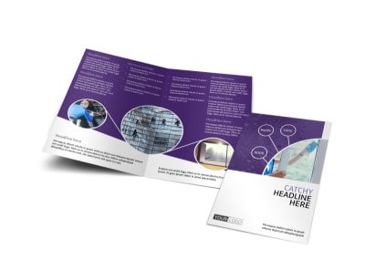 Window Cleaning Service Bi-Fold Brochure Template