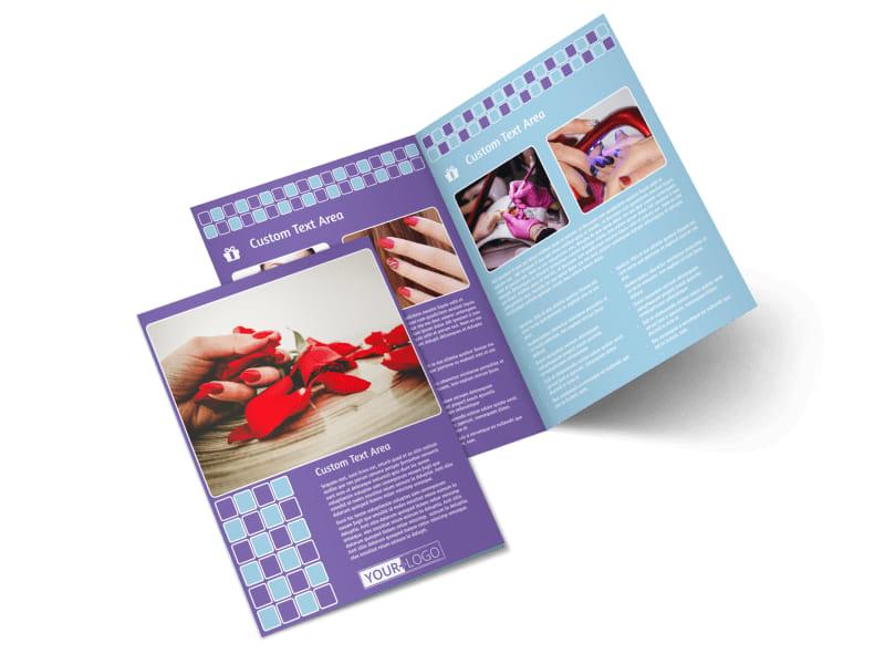 Pedi & Mani Beauty Services Bi-Fold Brochure Template 2