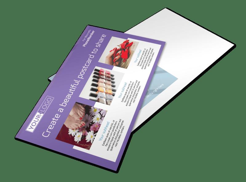 Pedi & Mani Beauty Services Postcard Template Preview 1