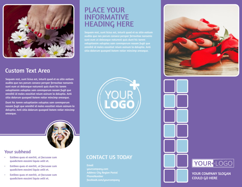 Pedi & Mani Beauty Services Brochure Template Preview 2