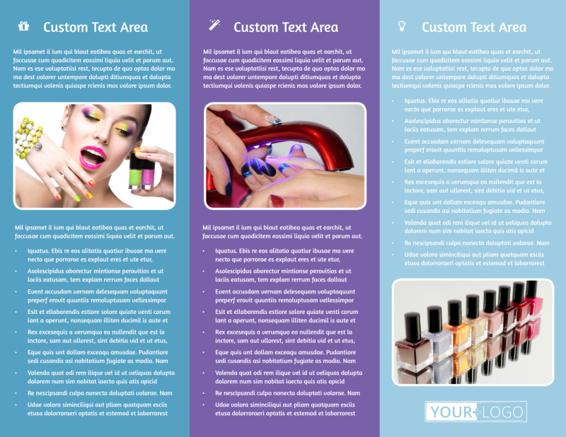 Pedi & Mani Beauty Services Brochure Template Preview 3