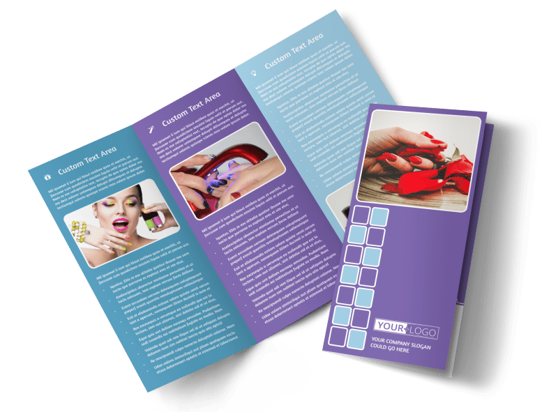 Pedi & Mani Beauty Services Brochure Template Preview 1