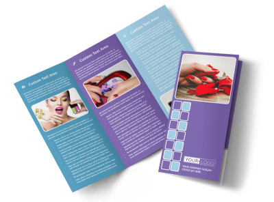 Pedi & Mani Beauty Services Tri-Fold Brochure Template preview