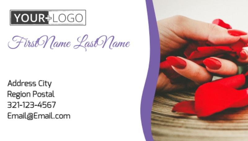 Pedi & Mani Beauty Services Business Card Template Preview 2