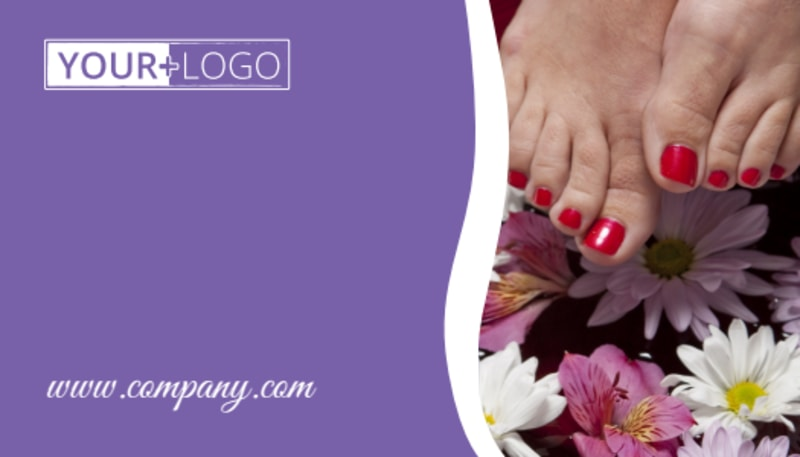 Pedi & Mani Beauty Services Business Card Template Preview 3