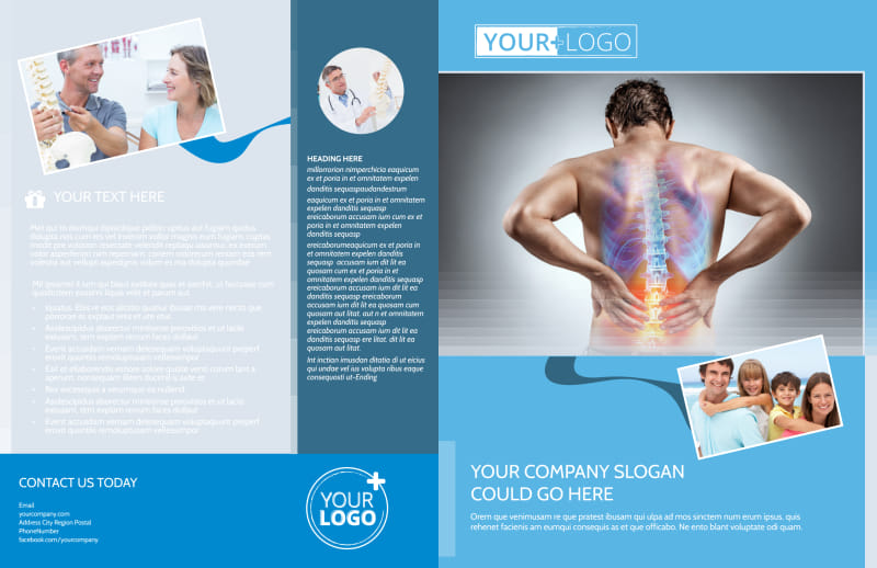 Family Chiropractic Clinic Brochure Template Preview 2