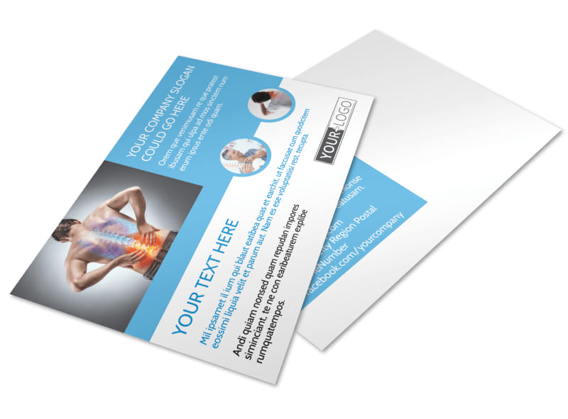 Family Chiropractic Clinic Postcard Template 2