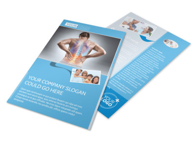 Family Chiropractic Clinic Flyer Template 3