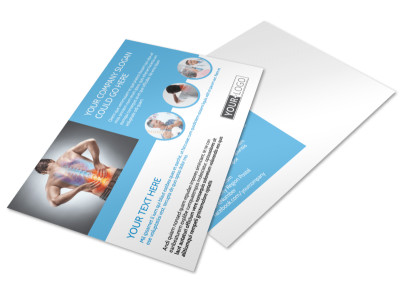 Family Chiropractic Clinic Postcard Template
