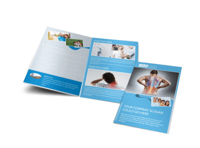 Family Chiropractic Clinic Bi-Fold Brochure Template preview
