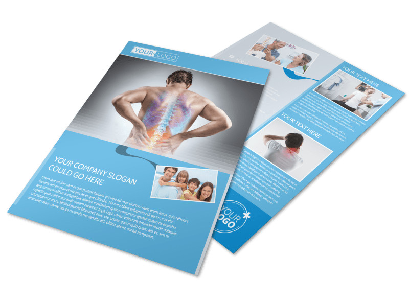 Family chiropractic clinic flyer template mycreativeshop for Clinic brochure template