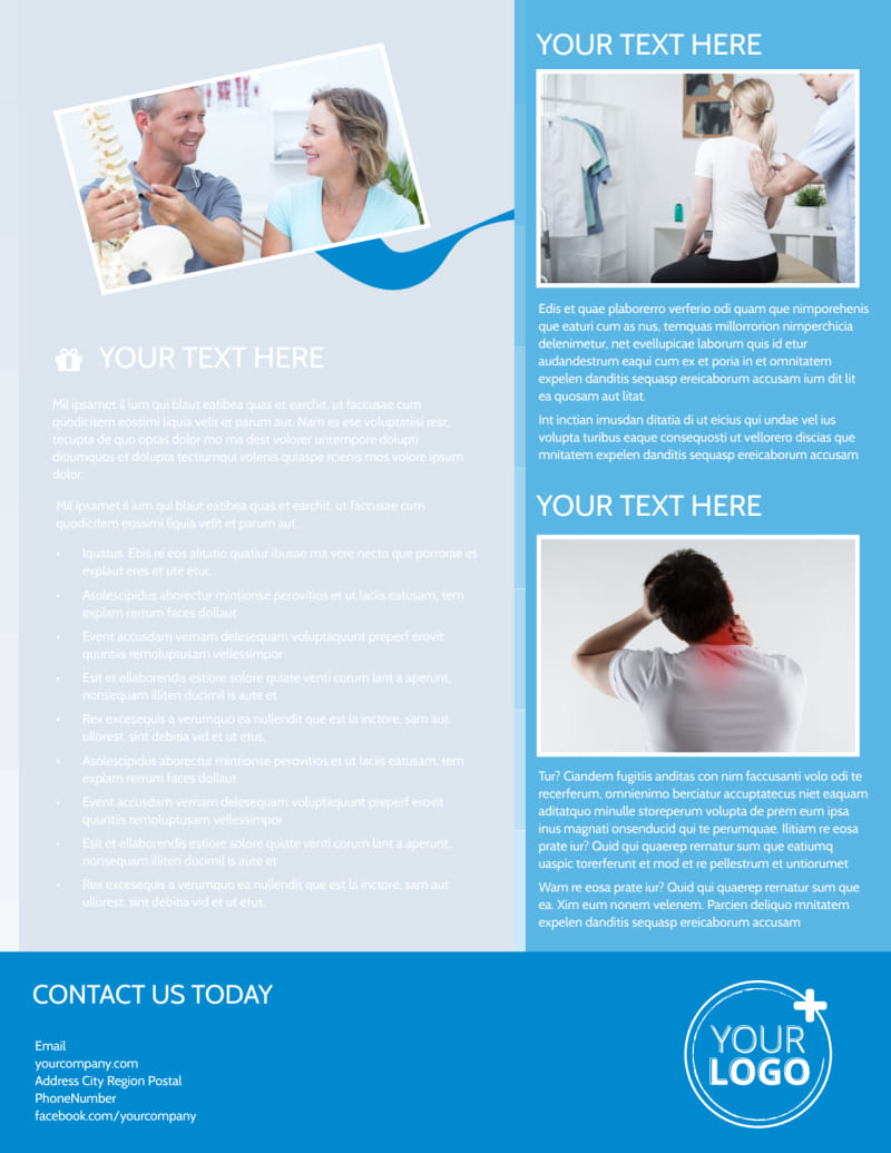 Family Chiropractic Clinic Flyer Template Preview 3