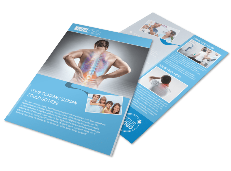 Family Chiropractic Clinic Flyer Template Preview 1
