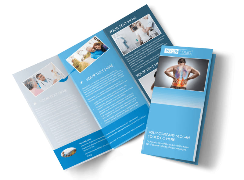 Family Chiropractic Clinic Brochure Template MyCreativeShop - Chiropractic brochures template