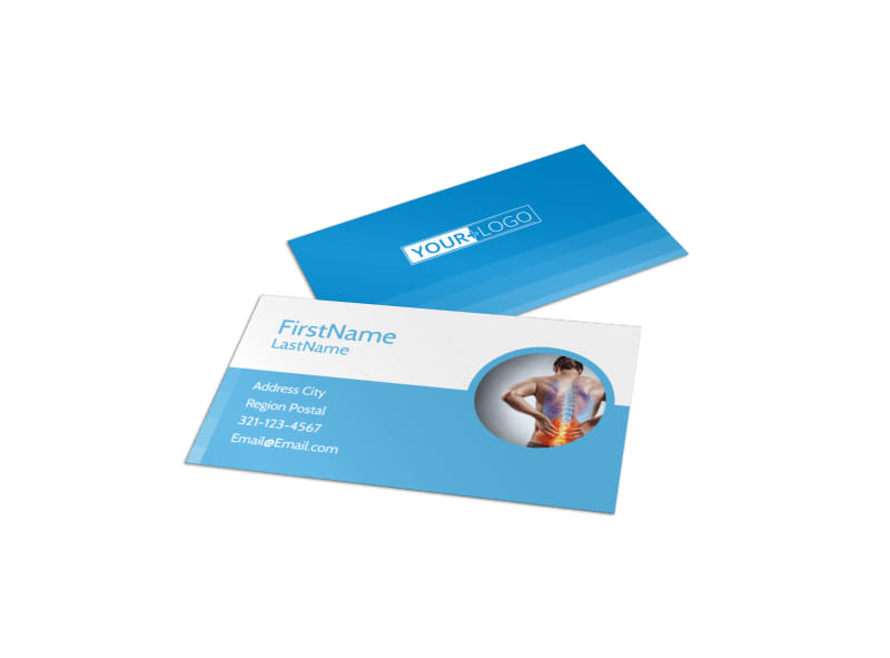 Family Chiropractic Clinic Business Card Template Preview 4