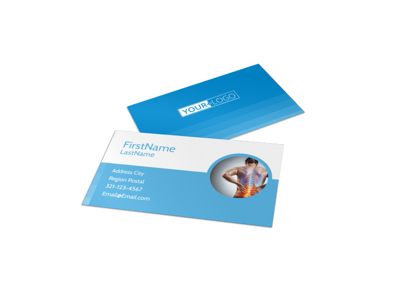 Family Chiropractic Clinic Business Card Template Preview 1