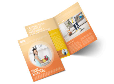 General Cleaning Services Bi-Fold Brochure Template 2