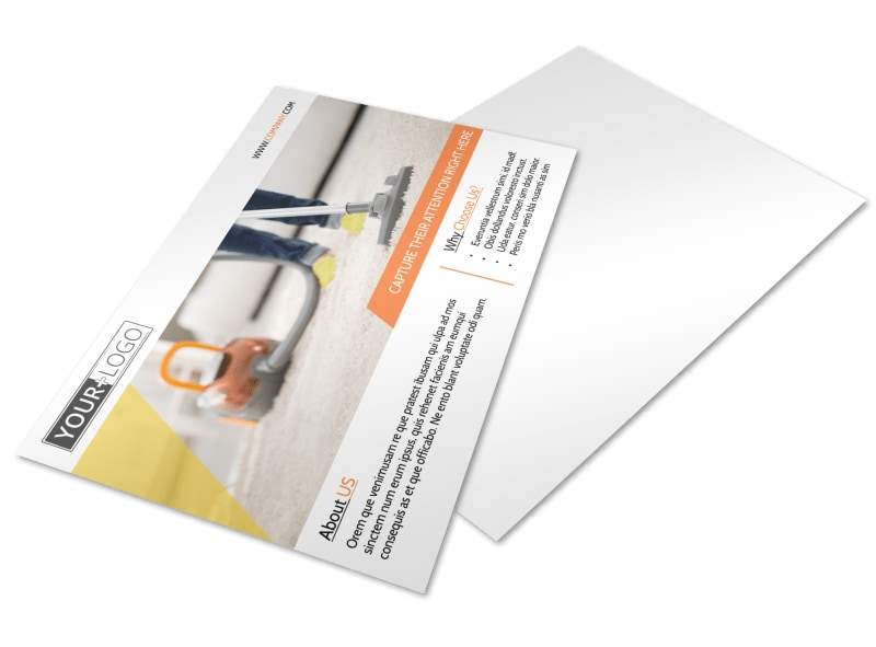 General Cleaning Services Postcard Template
