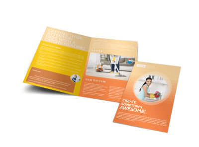 General Cleaning Services Bi-Fold Brochure Template preview