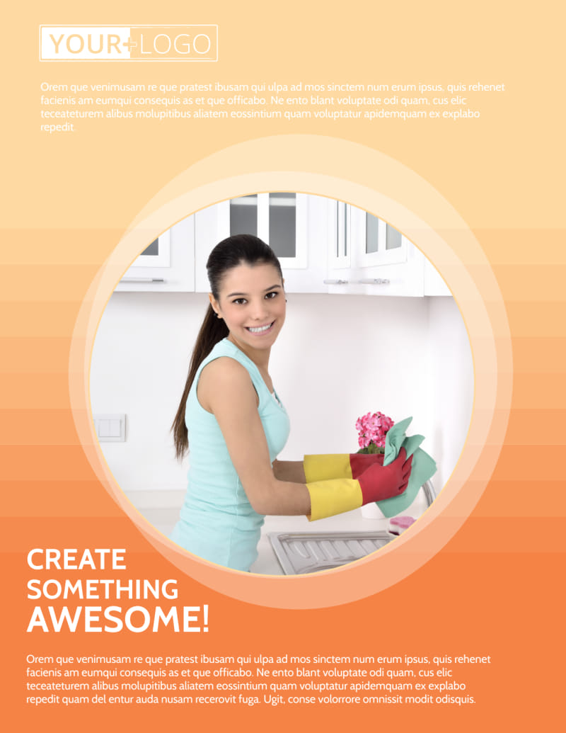 General Cleaning Services Flyer Template Preview 2