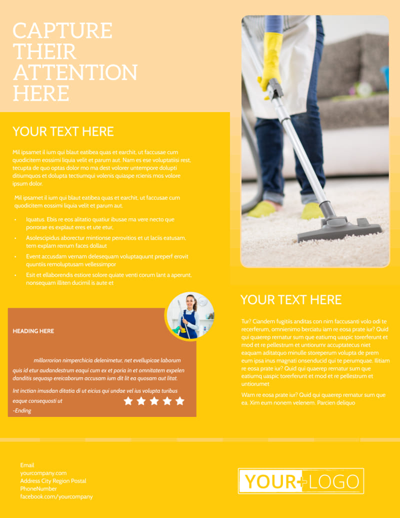 General Cleaning Services Flyer Template Preview 3