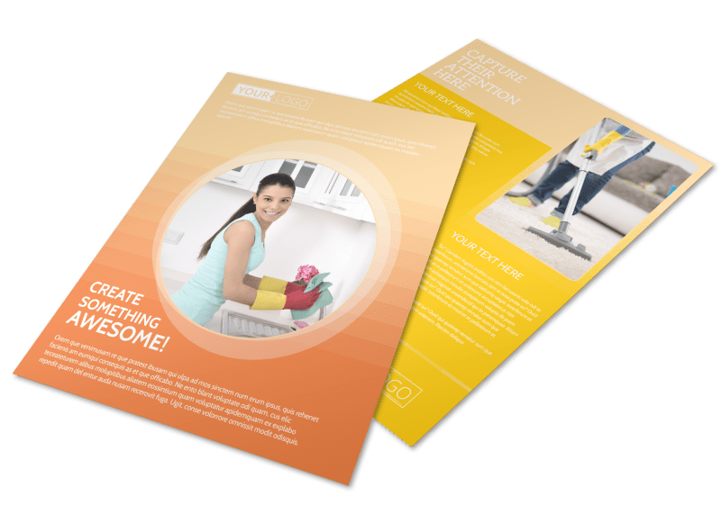 General Cleaning Services Flyer Template Preview 1
