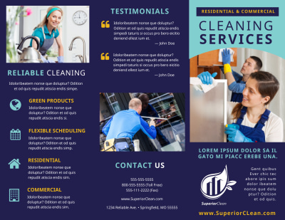 General Cleaning Services Brochure Template Preview 1