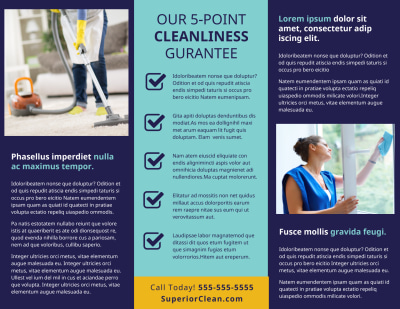 General Cleaning Services Brochure Template Preview 2